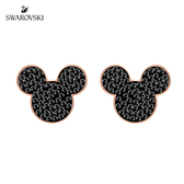 施華洛世奇 Mickey & Minnie 經典璀璨米奇穿孔耳環