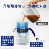 過濾水壺 凈水壺家用凈水杯便攜直飲濾水壺活性炭凈水器自來水過濾器T