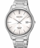 SEIKO 精工 時尚玩家藍寶石水晶手錶-銀 7N42-0FW0S
