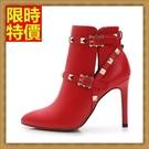 高跟短靴子狂野個性-個性別緻女休閒鞋子3色66c8【巴黎精品】