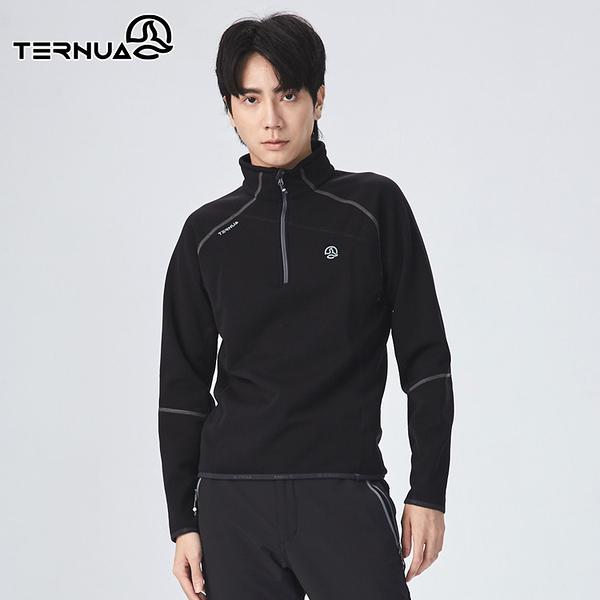 【西班牙TERNUA】男 Power stretch pro 半門襟保暖上衣1206860 AF / 城市綠洲 (Polartec、刷毛、透氣、快乾)