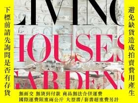 二手書博民逛書店Vogue罕見Living: Houses, Gardens,