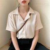 短袖襯衫 大碼胖mm上衣洋氣襯衫2020夏季新款韓版氣質寬鬆百搭短袖雪紡衫女【快速出貨】