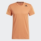 Adidas HEAT.RDY 3-Stripes Tee 男裝 短袖 訓練 透氣 網材 橘【運動世界】GP7652
