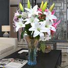 假花百合仿真花束單支客廳室內餐桌裝飾品擺設花藝擺件花瓶插花YDL
