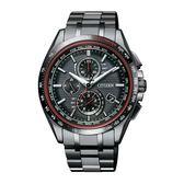 CITIZEN 電波計時光動能鈦腕錶/黑/全球性電波時計/AT8145-59E