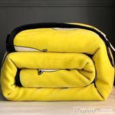 毛毯 珊瑚絨毯子冬季加厚保暖法蘭絨雙層毛毯床單學生單人宿舍冬用被子【韓國時尚週】