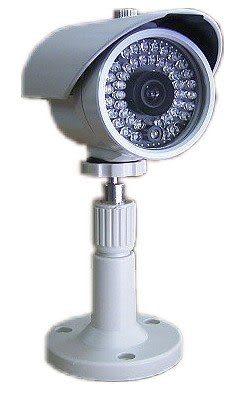 【CHICHIAU】42LED SHARP 高亮度 紅外線 防水彩色  CCD 防水 攝影機 室內外 監視器 含變壓器