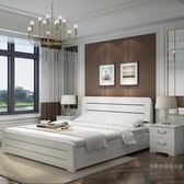 簡約現代實木床松木1.8米雙人床1.5m單人床經濟型1.2主臥WY