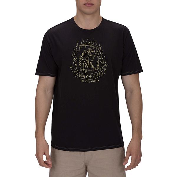 Hurley M LTWT CHAOS TIGER TEE SS BLACK T恤