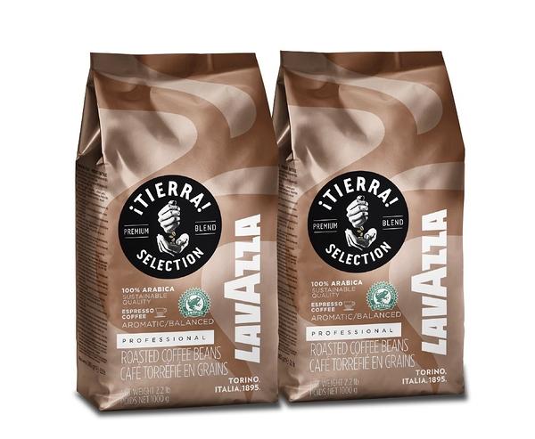 LAVAZZA TIERRA SELECTION 咖啡豆 1kg X2包 贈送LAVAZZA隨行杯2入