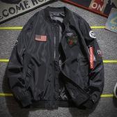 週年慶優惠-男士外套新款韓版休閒棒球服飛行員夾克男棉服男裝棉衣