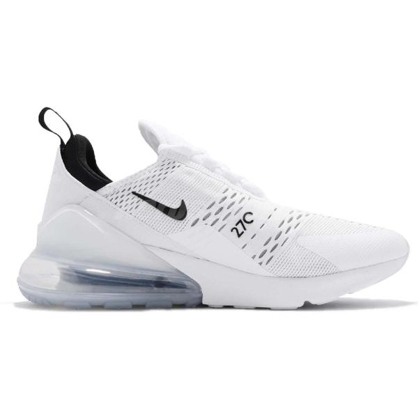 Nike 休閒鞋 Air Max 270 白 黑 男鞋 大氣墊 大型後跟氣墊 舒適緩震 運動鞋 【ACS】 AH8050-100
