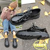 chic復古英倫風圓頭學生日系洛麗塔可愛軟妹ins小皮鞋女單鞋