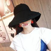 超火折疊防曬漁夫帽百搭 歐美街頭凹造型大檐遮陽網紅帽子潮女  伊莎公主