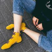 男原宿短中筒襪夏季女滑板潮麻葉純棉  hh3012『時尚玩家』