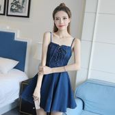 夏季新款無袖牛仔裙女吊帶短裙心機連衣裙背帶女裝韓版夏顯瘦