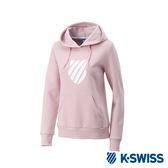 K-Swiss Shield Logo Hoodie 刷毛連帽上衣-女-粉紅