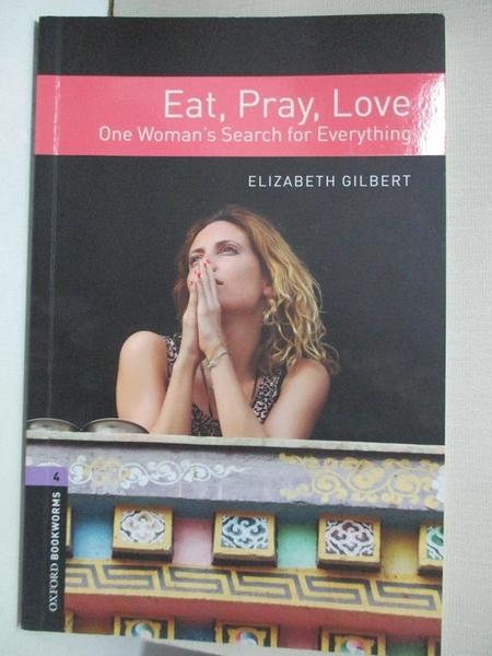 【書寶二手書T1/原文小說_A78】Eat, Pray, Love: One Woman's Search for Everything
