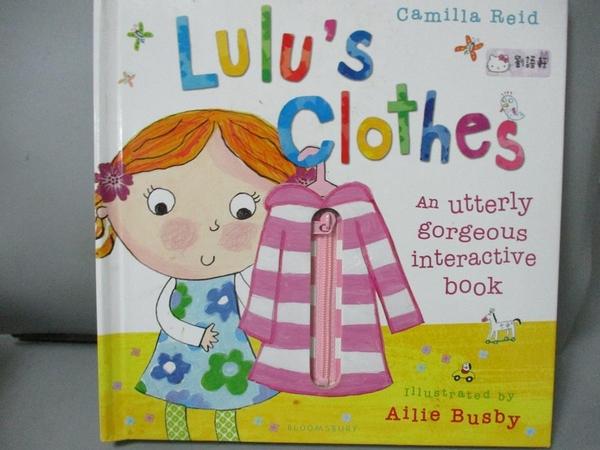 【書寶二手書T7/少年童書_YEW】Lulu's Clothes_Camilla Reid,Ailie Busby (I