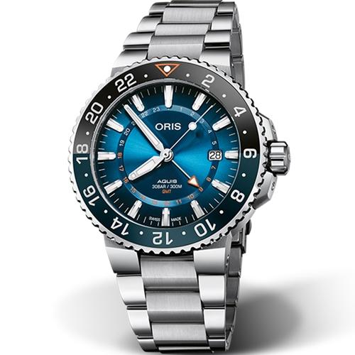 Oris豪利時 Aquis Carysfort Reef 卡里斯福特礁限量腕錶 0179877544185-SetMB
