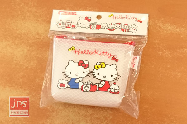 Hello Kitty 凱蒂貓 雙胞胎 網格零錢包 點心 970631