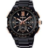 SEIKO Brightz 鈦金屬 太陽能電波限量腕錶-43mm 8B92-0AH0SD(SAGA214J)