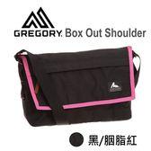 結束代理-【美國Gregory】Box Out Shoulder日系休閒郵差包8.4L-黑色/胭脂紅