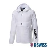K-SWISS Semi Zip Open Jacket防風上衣-女-白