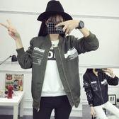 棒球外套 夾克百搭棒球服韓版bf原宿風中長款