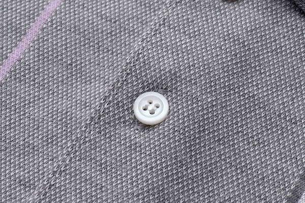 【Emilio Valentino】經典時尚直條紋保暖休閒POLO衫 - 灰/粉紅條紋