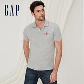 Gap男裝 Logo雅致風格短袖Polo衫 440725-麻灰色