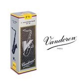 小叮噹的店- 法國 Vandoren Tenor V12 次中音薩克斯風竹片 銀盒 5片裝 T-V12