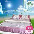 ★全新NG福利品★【佳工坊】電視熱銷 頂級冰絲涼蓆三件床包組(雙人加大180x198cm)