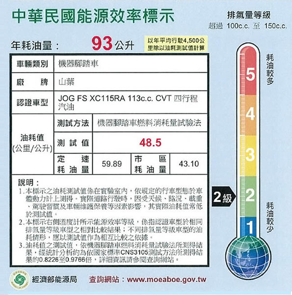 YAMAHA 山葉機車 JOG FS 115 液晶日行燈版-2018新車