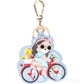 FURLA LADY BLOGGER 腳踏車時髦熊牛皮鑰匙圈 1840105-23