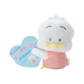 小禮堂 貝克鴨 迷你絨毛玩偶 玩偶萬用夾 夾式玩偶 娃娃夾子 (粉 2021角色大賞) 4550337-61005