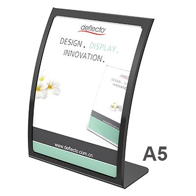 美國迪多Deflect-o 抗眩光曲面展示架A5(黑)