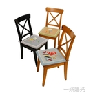 夏季田園竹蓆刺繡椅墊美式鄉村透氣涼墊辦公室坐椅墊汽車冰絲座墊  一米陽光