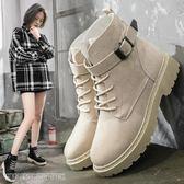 馬丁靴 新款韓版百搭學生chic平底小短靴秋冬女靴復古英倫風馬丁靴女 維科特3c