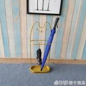 招財貓鐵藝家用雨傘架掛摺疊傘收納架放傘桶傘架子筒玄關門口神器『橙子精品』