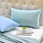 義大利La Belle《日本防蹣抗菌可水洗馬卡龍舒柔枕》夢幻藍x薄荷綠