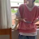 女士馬甲針織背心外套女韓版寬鬆毛線衣馬甲...