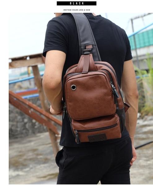 FINDSENSE品牌 韓國 新款  FIN韓國出品 包款 時尚 男士大容量 休閒 單肩 斜挎 胸包 戶外 商務包 潮流