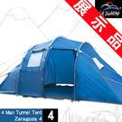 (展示品)豪華隧道式四人帳篷.登山帳篷露...