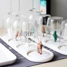加點樂 創意家用塑料水杯架客廳收納玻璃杯子茶杯架子酒杯瀝水架 小明同學