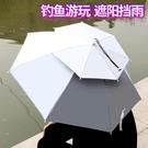 釣魚傘 雙層防風防雨釣魚傘帽頭戴式雨傘防曬折疊頭頂雨傘帽戶外遮陽垂釣 JD CY潮流