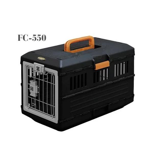 寵物家族-日本IRIS-IR-FC-550航空運輸籠-黑/橙