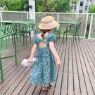 女孩露背碎花小洋裝 連衣裙 橘魔法 Baby magic 現貨 連身裙 童洋裝