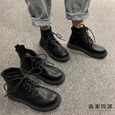 英倫風春秋瘦瘦單靴潮馬丁靴短靴子女潮中筒靴【毒家貨源】